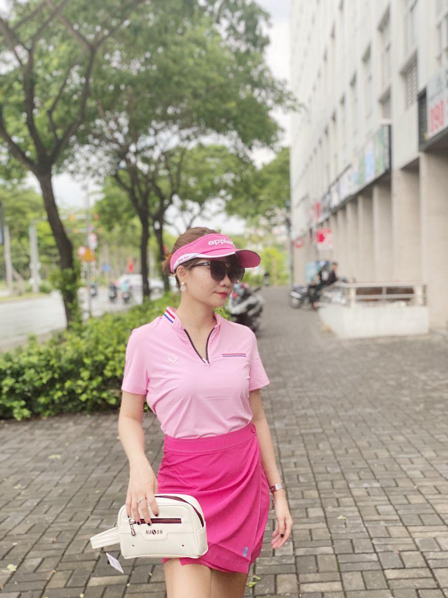 Áo Golf nữ Charly cộc tay cổ mỹ khóa