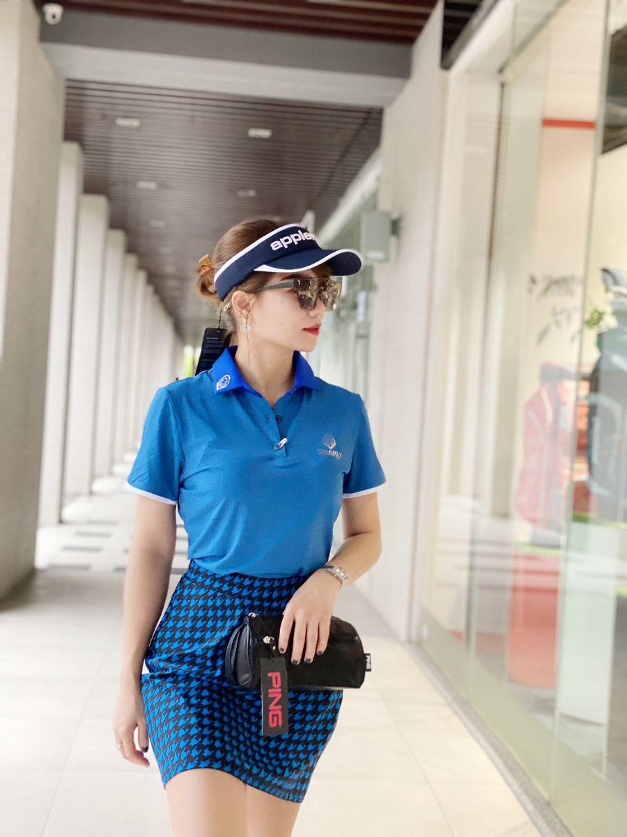 Áo Golf nữ Charly cộc tay cổ bẻ trơn