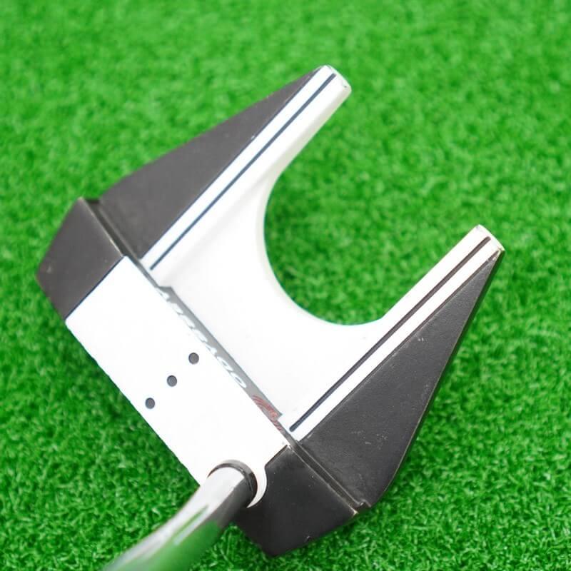 Gậy golf putter cũ Odyssey white/matte black kẻ line hỗ trợ người chơi