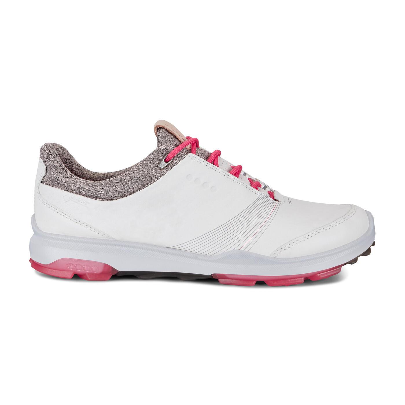 Giày golf nữ Ecco BIOM Hybrid 3 2 phiên bản màu trắng và màu be