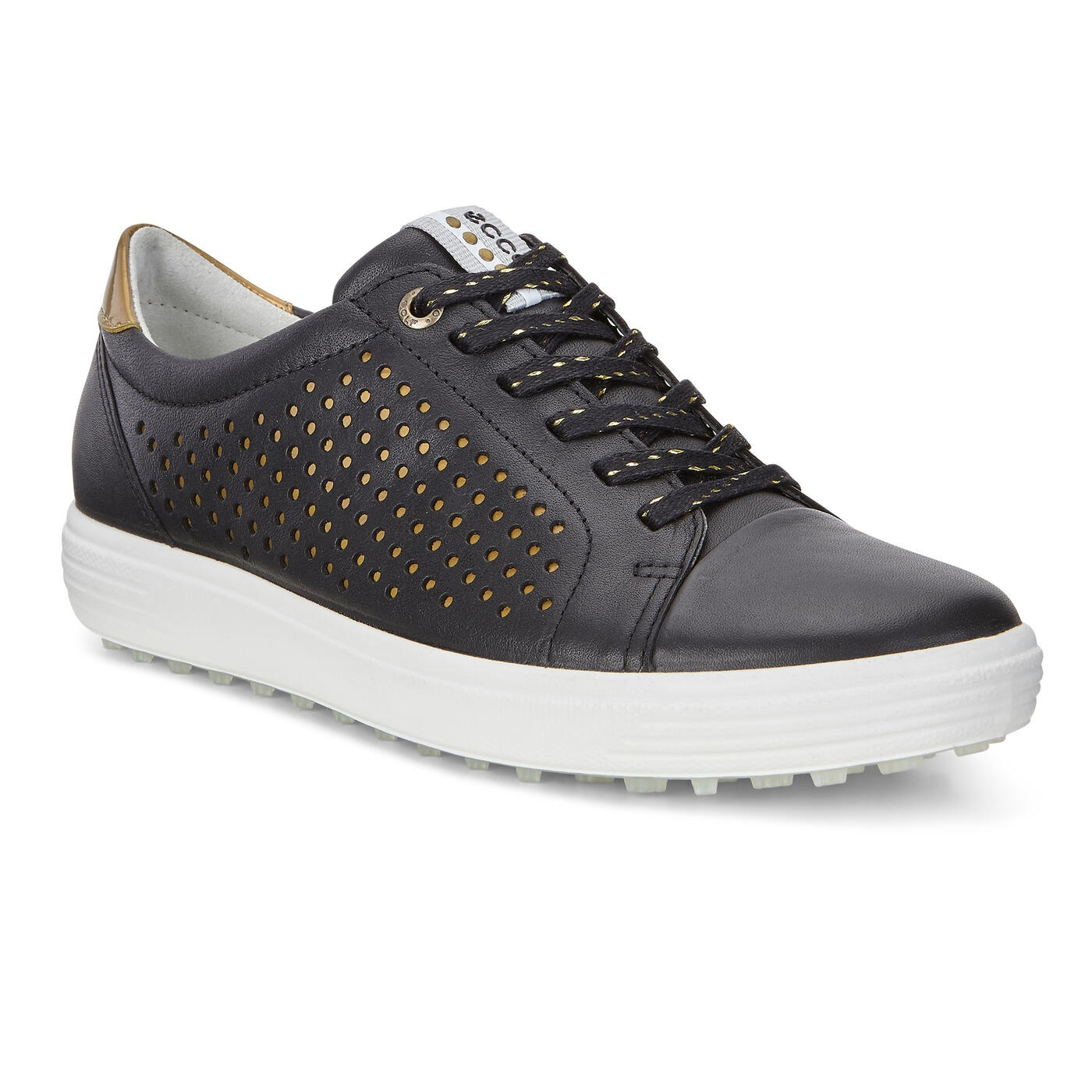 Giày chơi golf nữ ECCO Casual Hybrid 2 phiên bản Black/White