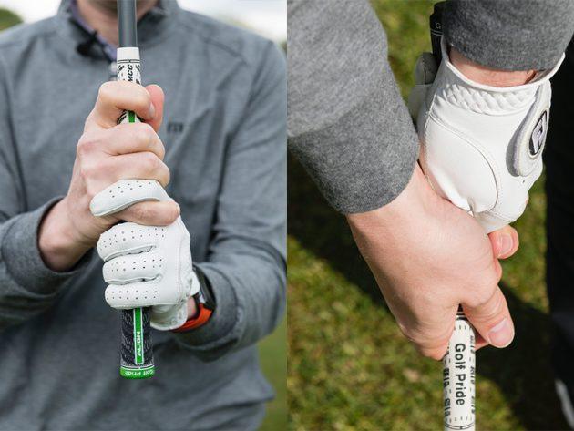 Hướng dẫn cách cầm gậy đánh golf kiểu interlocking