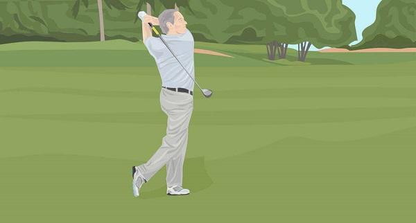 Tư thế dừng gậy trong cách đánh gậy gỗ golf chuyên nghiệp