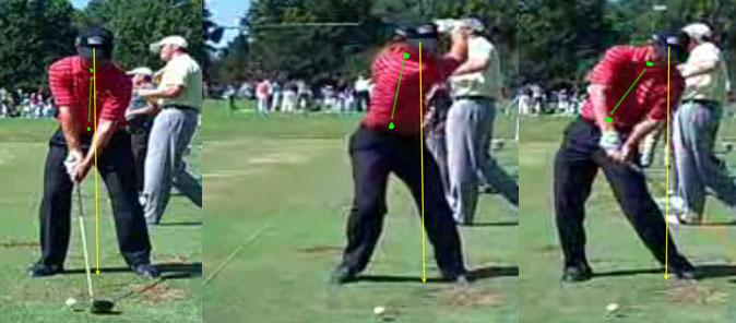 Thay đổi trọng tâm khi swing với chân trụ