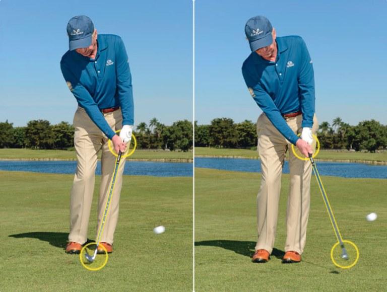 Cách set-up kỹ thuật chip golf cơ bản