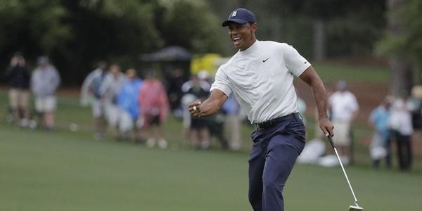 Xem kỹ thuật gạt bóng golf của Tiger Woods