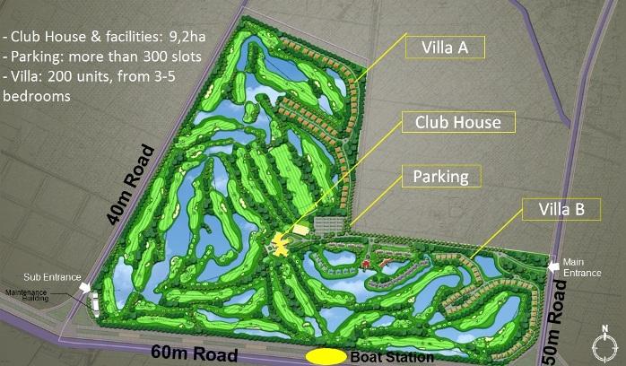 Sơ đồ sân golf Nhân sư
