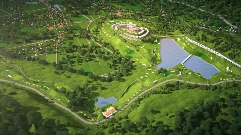 Toàn cảnh sân golf Yên Dũng từ trên cao