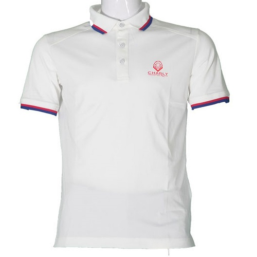 Áo Charly Active Cooling Ribbed Polo trắng