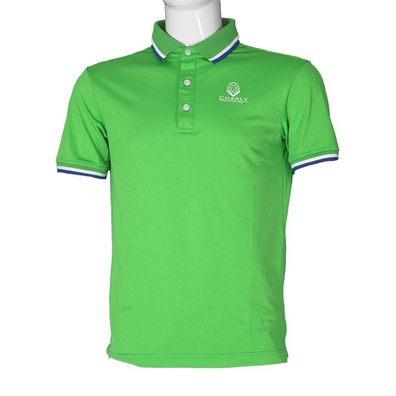 Áo Charly Act-Cooling Polo xanh lá