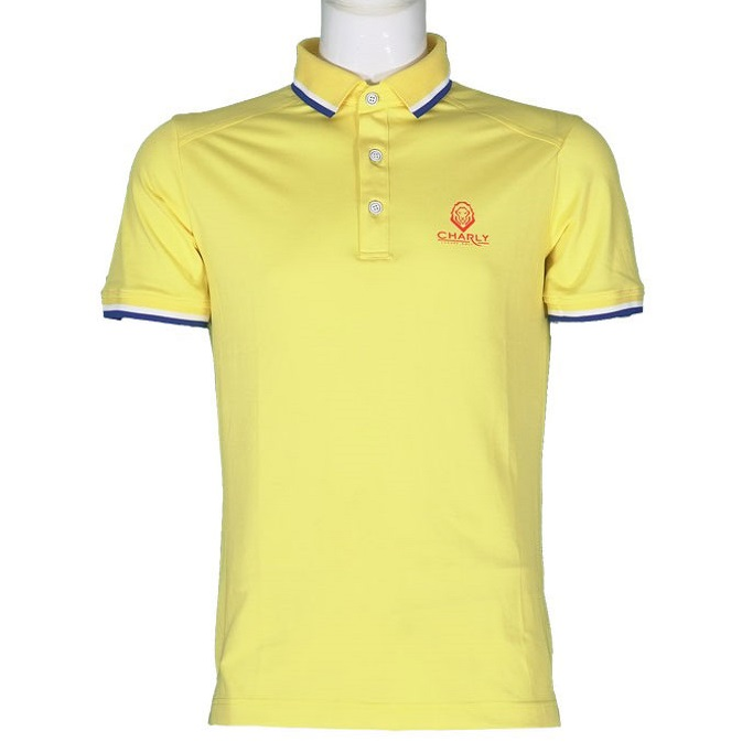 Áo Charly Act-Cooling Ribbed Polo Vàng