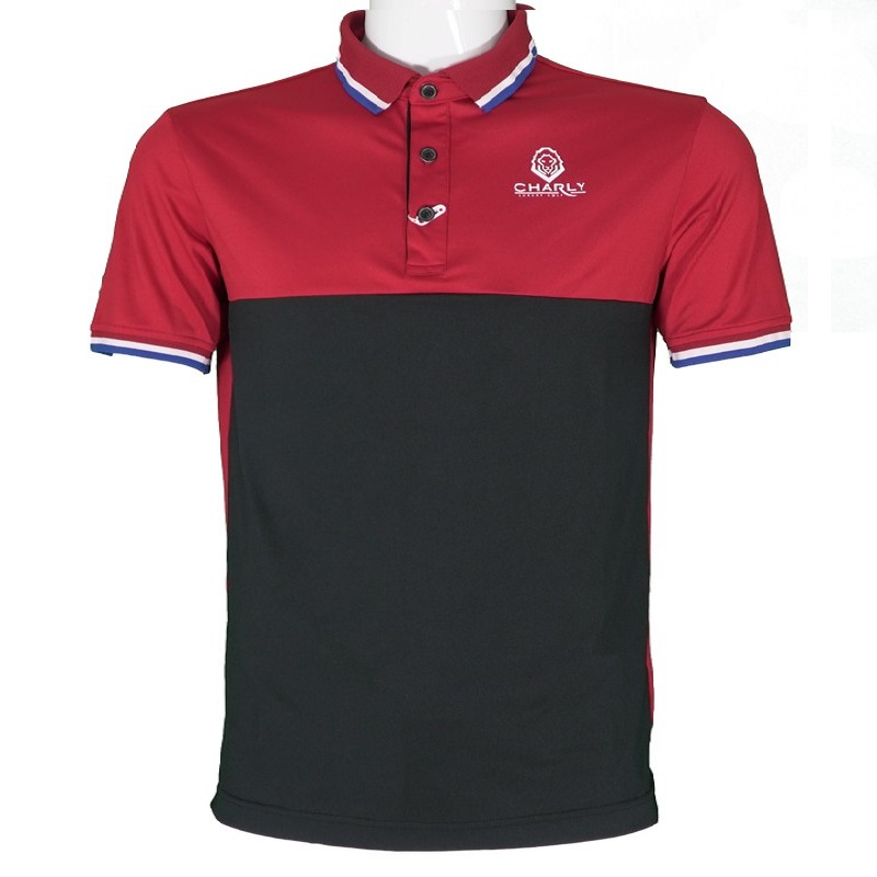 Áo golf Polo Act-Cooling Rd/Bk