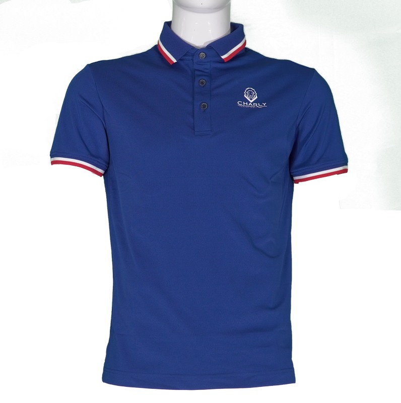 Áo golf nam Charly Act-Cooling Polo Navy