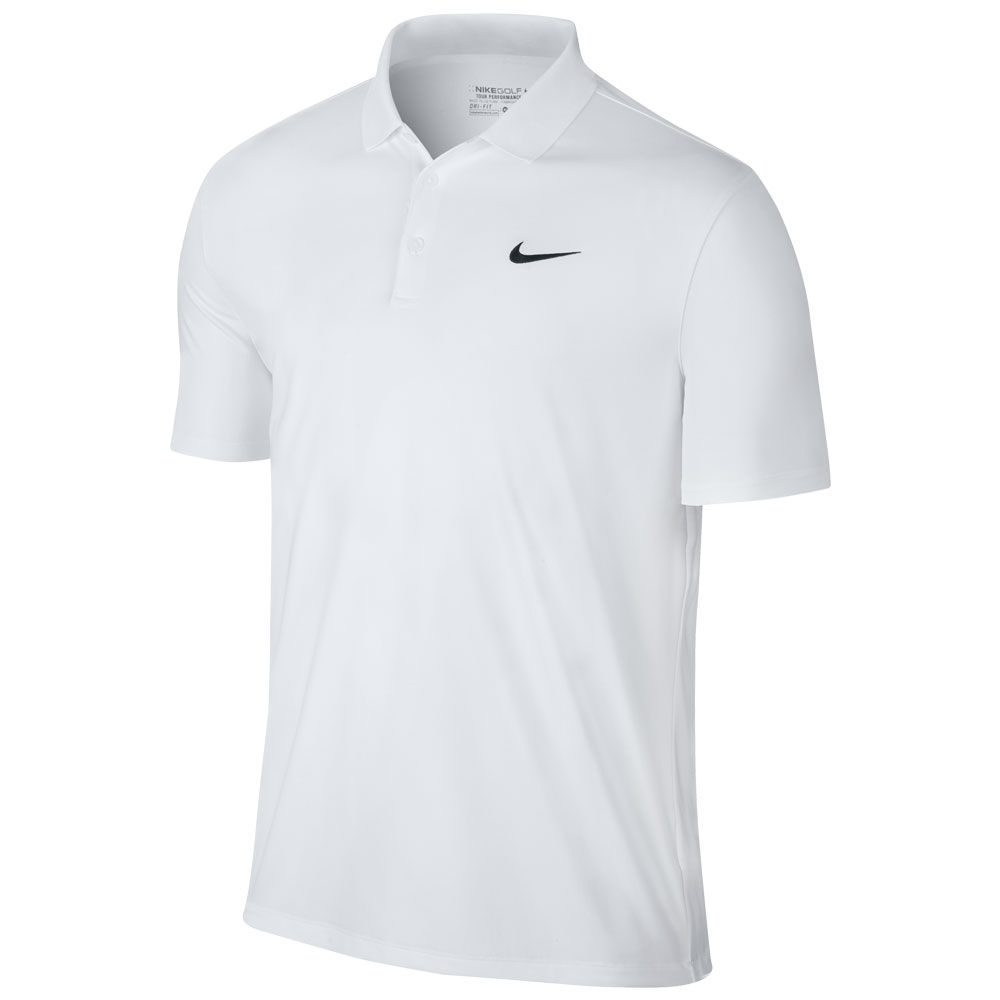 Nike Men Victory Solid Polo Swoosh Logo Left Chest - 749332-100