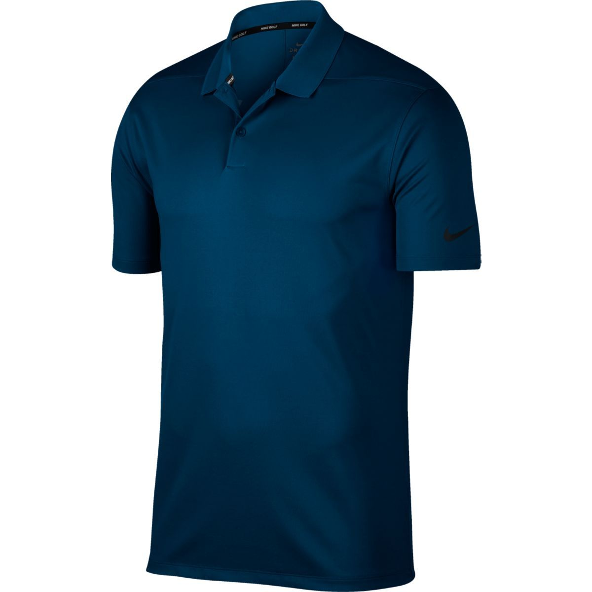 Nike Men Victory Solid Polo Navy Swoosh Logo Left Chest - 891857-419