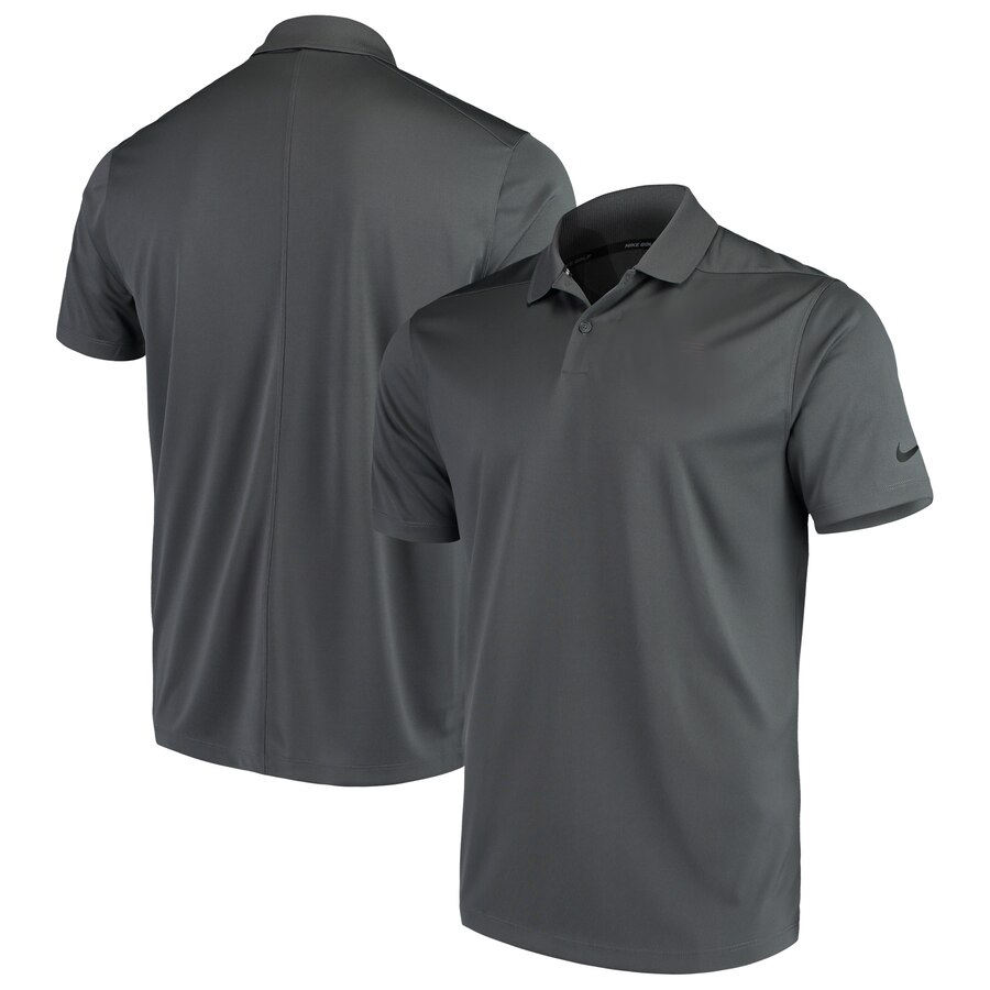 Nike Men Victory Solid Polo D-Grey Swoosh Logo Left Sholder - 891881-021