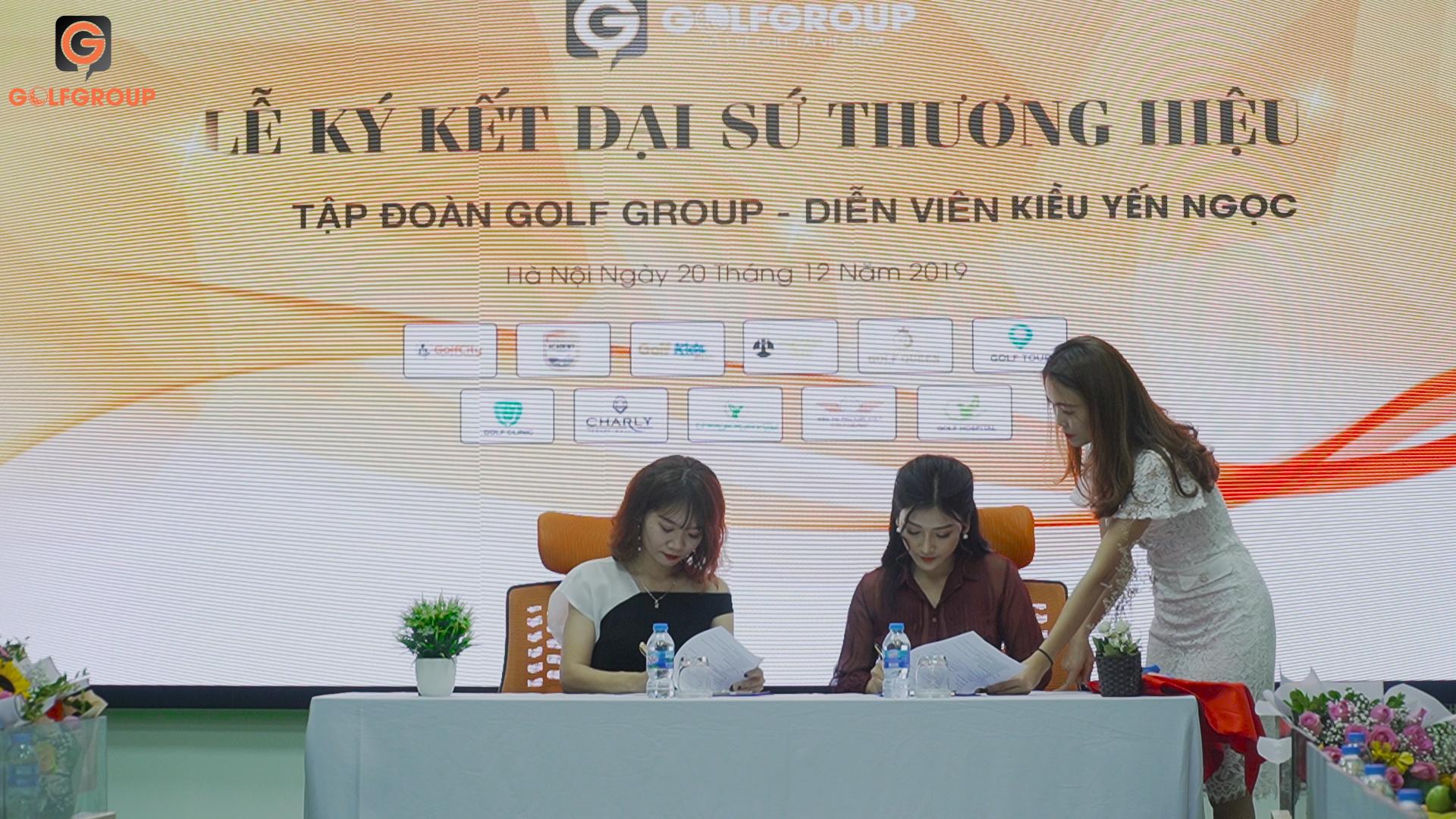 Tập đoàn Golfgroup ký kết và công bố diễn viên Kiều Yến Ngọc là đại sứ thương hiệu