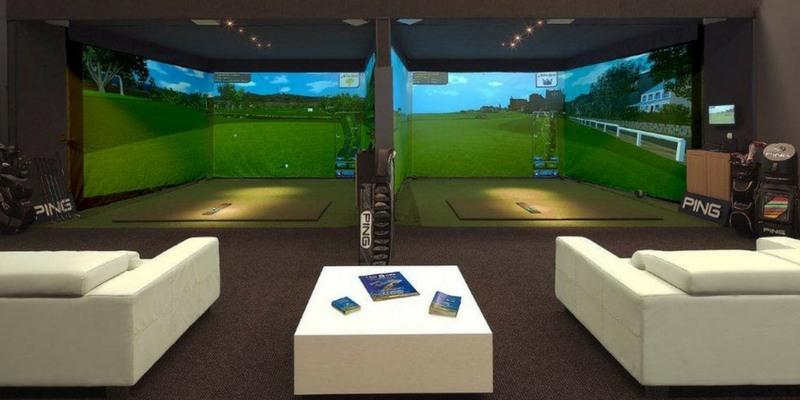Thiết kế mô phỏng 1 phòng Driving range 3d