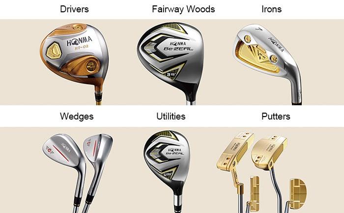 Các loại gậy đánh golf hiện có