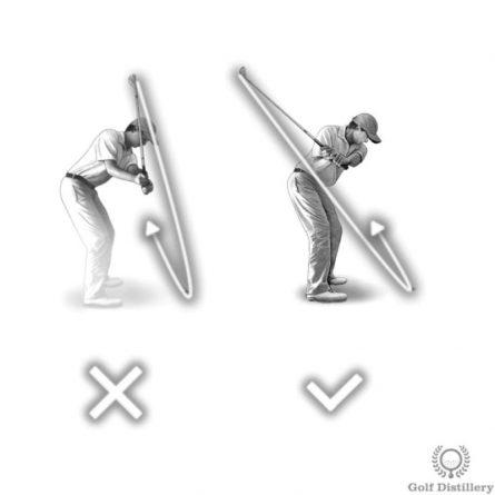 Để cú phát bóng bằng gậy gỗ thật chuẩn xác các golfer nên di chuyển trọng tâm tự nhiên