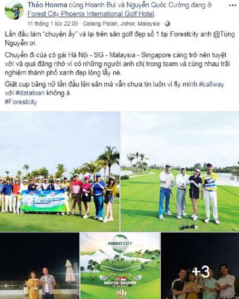 Chia sẻ của CEO Nguyễn Phương Thảo trên mạng xã hội