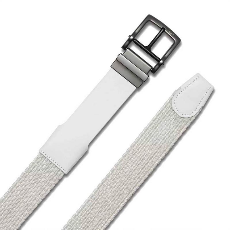 Chi tiết hình ảnh thắt lưng golf Nike Men Stretch Woven 809023-100 màu trắng