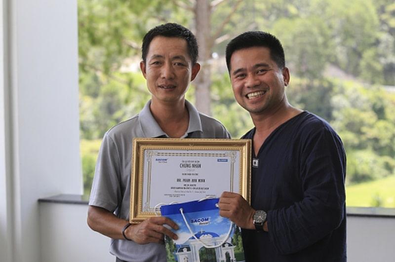 Golfer Phạm Anh Minh đã xuất sắc đạt thành tích ghi điểm Albatross