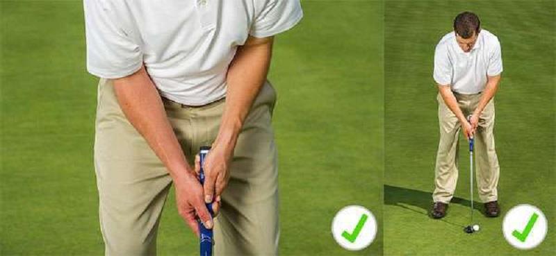 Tư thế đứng và cầm gậy là bài tập golf tại nhà bất cứ ai cũng cần thực hiện