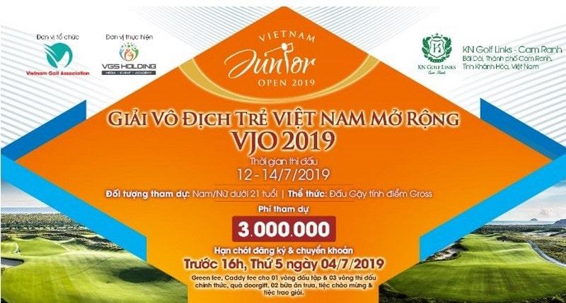 Vietnam Junior Open – VJO 2019 là giải vô địch golf trẻ quốc gia mở rộng 2019 diễn ra từ ngày 12/7 – 14/7 với sự góp mặt của 75 golfer