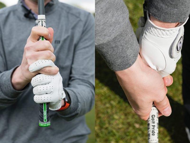 Interlock là cách cầm phù hợp với những người có bàn tay nhỏ và căng đầy