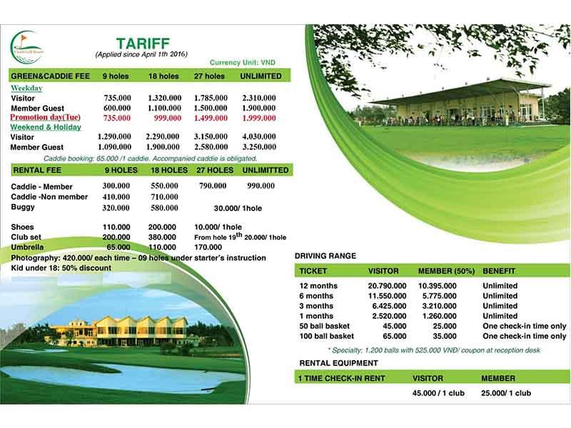 phí chơi golf tại 10 sân lớn nhất Việt Nam - Sân Cửa Lò Golf Resort