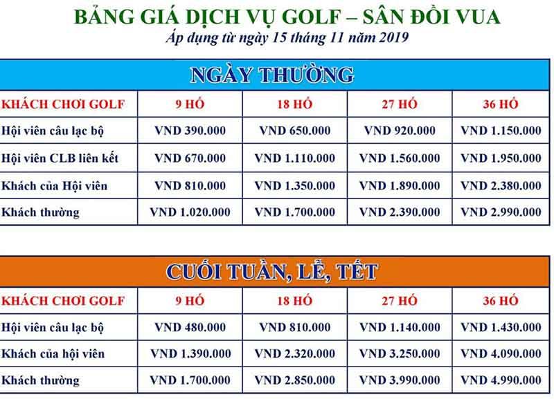 Chi phí đặt sân golf tại 10 sân golf lớn nhất việt nam - sân Hoàng Gia