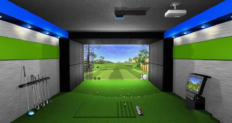 Phòng tập golf 3D phục vụ quý khách hàng đánh thử hoàn toàn miễn phí