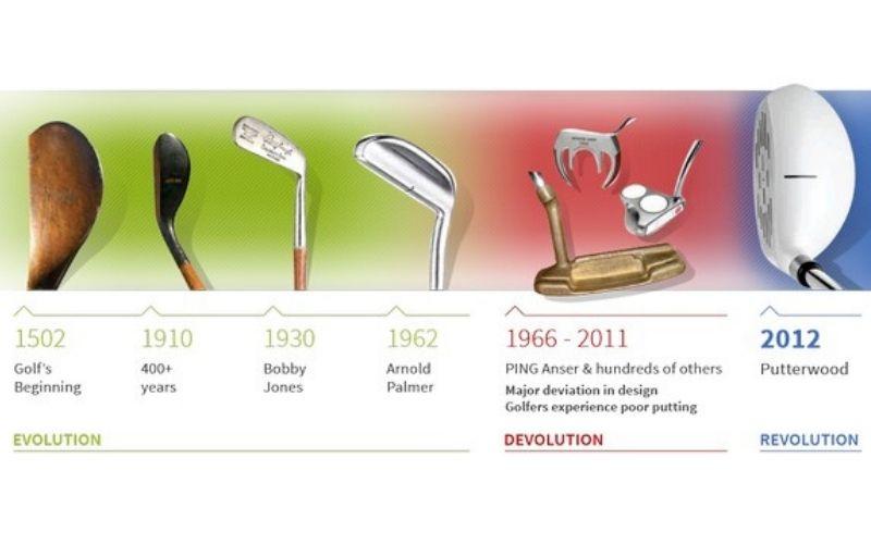 Gậy golf xuất hiện từ rất sớm và cải tiến qua nhiều thời kỳ