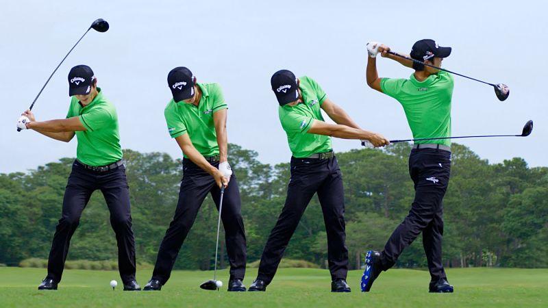 Gậy golf trợ lực sẽ giúp người chơi đánh bóng đi với lực nhẹ và không mất quá nhiều sức lực