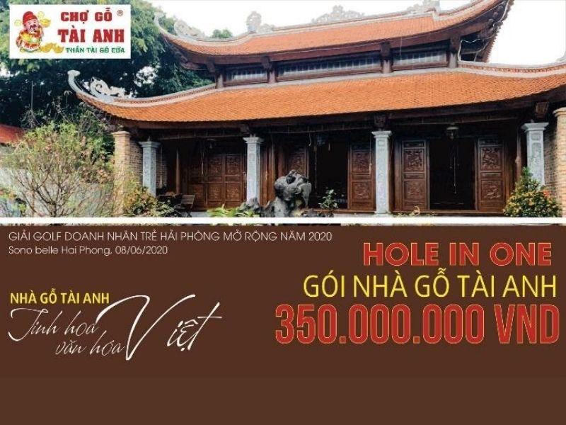 Người thắng cuộc có thể nhận được gói nhà gỗ tài anh với trị giá lên tới 350.000.000 đồng