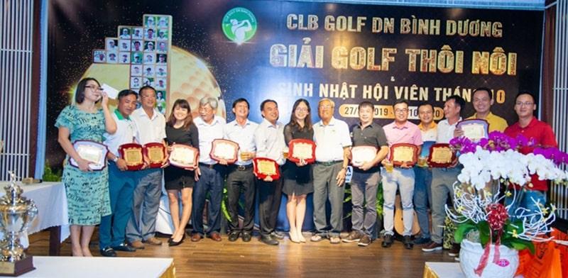 CLB Golf Doanh nhân Bình Dương tri ân các nhà tài trợ chính cho giải Golf Thôi Nôi
