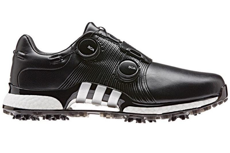 Giày golf nam Adidas Tour360 XT-twin Boa sở hữu thiết kế bên ngoài với điểm nhấn vô cùng cá tính