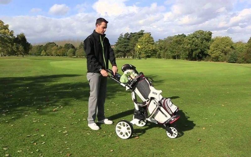Golf Buggy dùng sức đẩy hoặc kéo, sử dụng để mang theo phụ kiện chơi golf