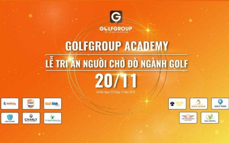 GolfGroup tổ chức mừng ngày lễ 20.11 tri ân các huấn luyện viên golf