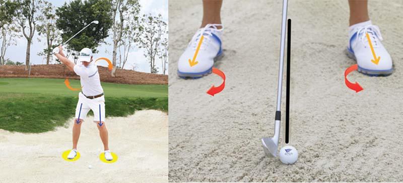 Khi thực hiện kỹ thuật đánh cát bóng, golfer cần tuân thủ theo các nguyên tắc