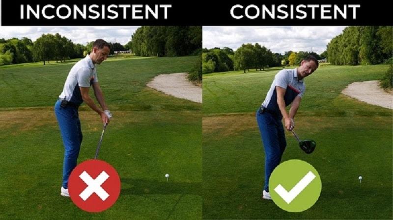 Giữ tay trái thẳng và căng khi backswing là lỗi sai thường gặp