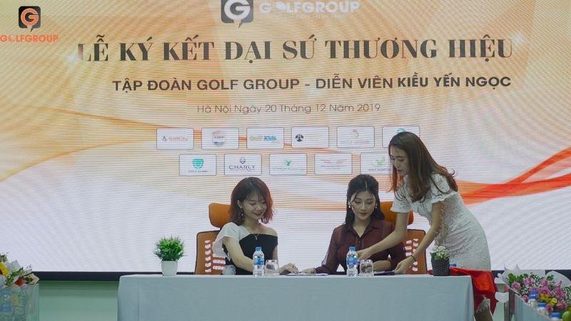 Lễ ký kết, công bố Đại sứ thương hiệu GolfGroup - Diễn viên Kiều Yến Ngọc