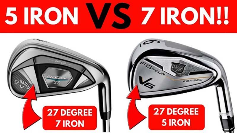 Gậy sắt số 5 và số 7 giúp golfer có được cú đánh dài