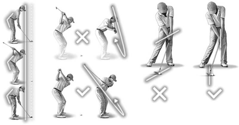 Golfer cần cố định phần đầu để swing chuẩn xác