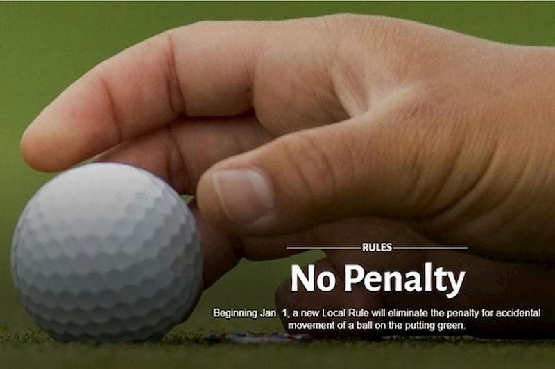 Luật golf trên gree mới