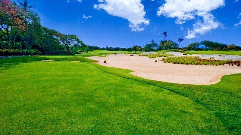 Một khu vực bunker tại sân golf Bali