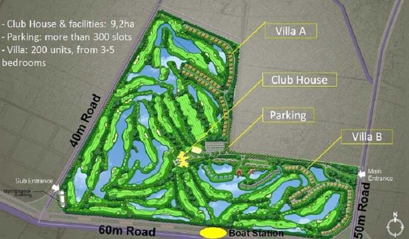 Vị trí đắc địa, thuận tiện di chuyển của sân golf Nhân Sư