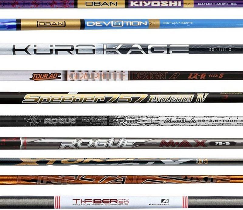 Các loại shaft gậy golf rất đa dạng