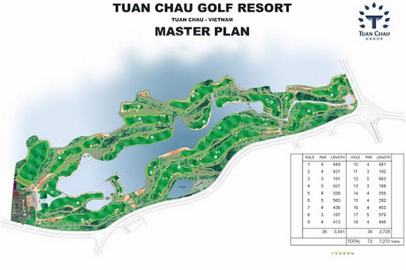 Thiết kế sân golf Tuần Châu Hạ Long